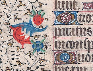 Illuminated Leaf from a Book of Hours. Paris, c. 1420