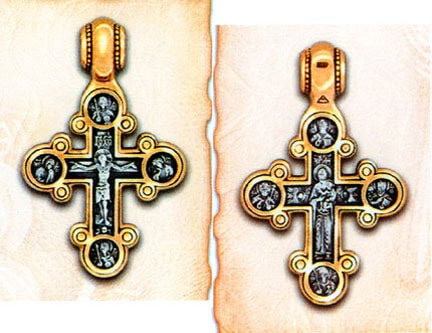 Traditional Byzantine Style Lobed Cross, Russia