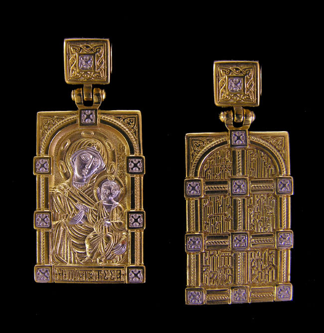 Virgin of Iverskaya Pendant, Russia