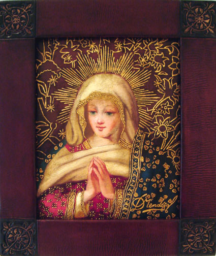 Virgin Mary Original Oil Painting - Virgen de Belen by Mendoza