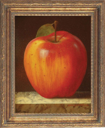 Red Apple by Victor Del Castillo