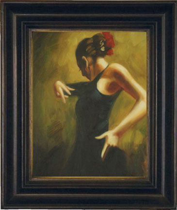 "Flamenco Dancer, 16"" x 12"""