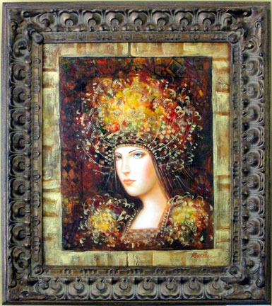 Woman in Exotic Headdress by Kristian