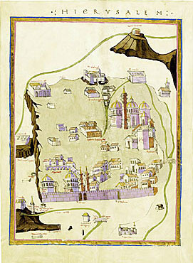 Map of Jerusalem by Ptolemy