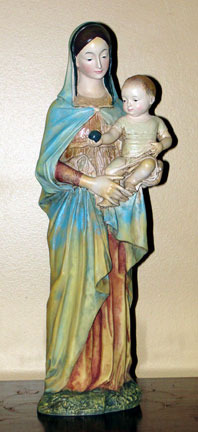 Madonna and Child Sculpture by Rossellino