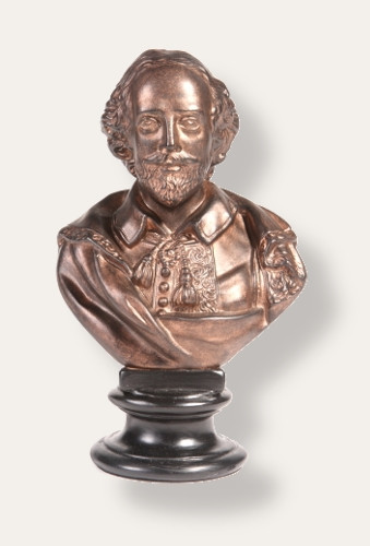 William Shakespeare Bust 9""