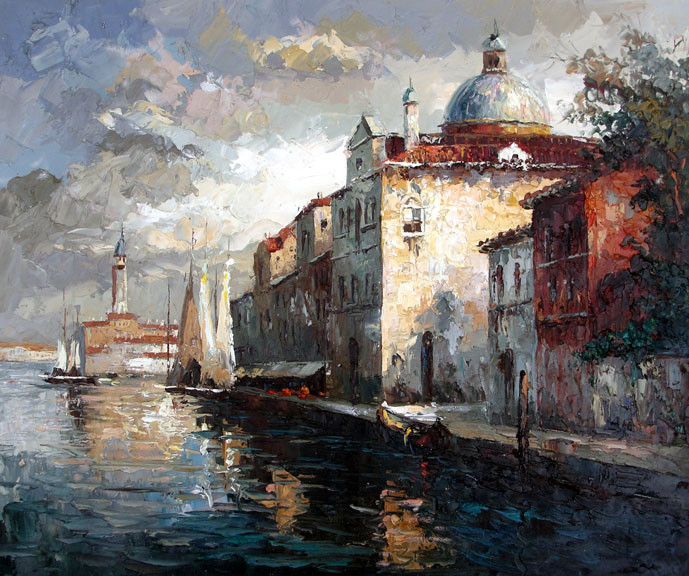 Venice Canal - Original Oil Painting