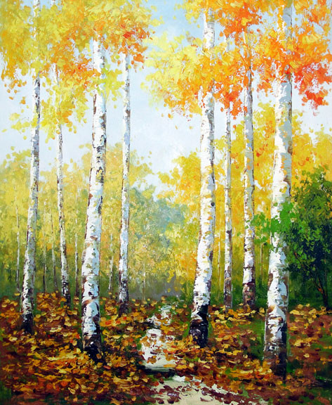 "Birches 1 - Original Oil Painting 20"" x 24"""