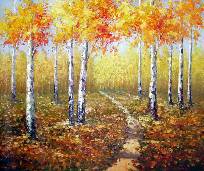 "Birches 3 - Original Oil Painting 20"" x 24"""
