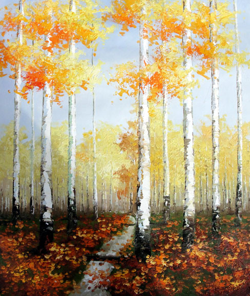 "Birches 4 - Original Oil Painting 20"" x 24"""