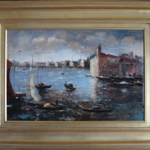 Venice Canal Scene - Original Oil Painting