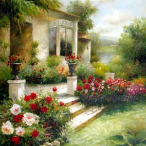 Porch Garden - Original Oil Painting