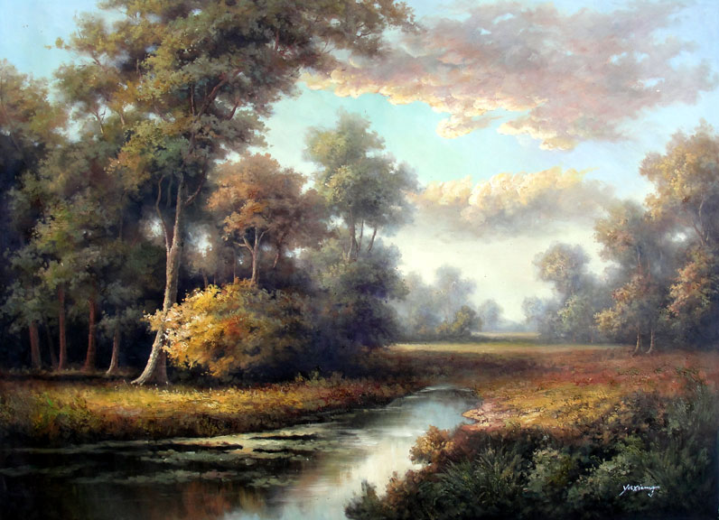 Woodland Serenity by Yaxiung - Original Oil Painting