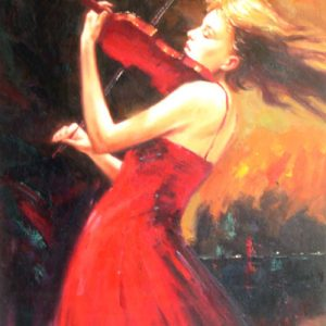Violin on Fire by Wenolini