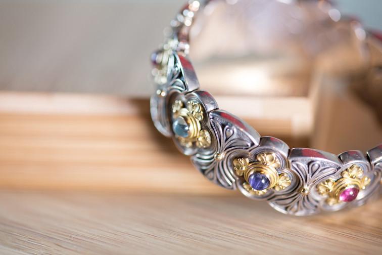 Multi Stone Blossom Bracelet By Konstantino