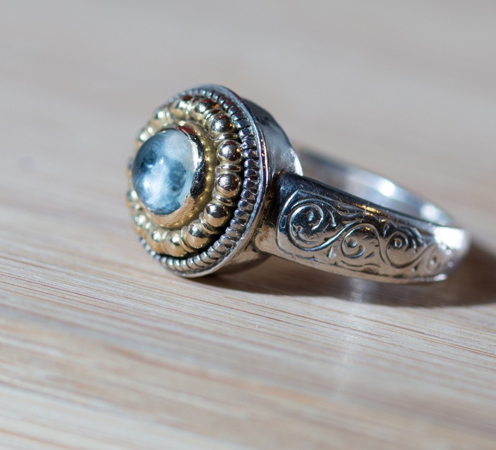 Aquamarine Ring by Konstantino