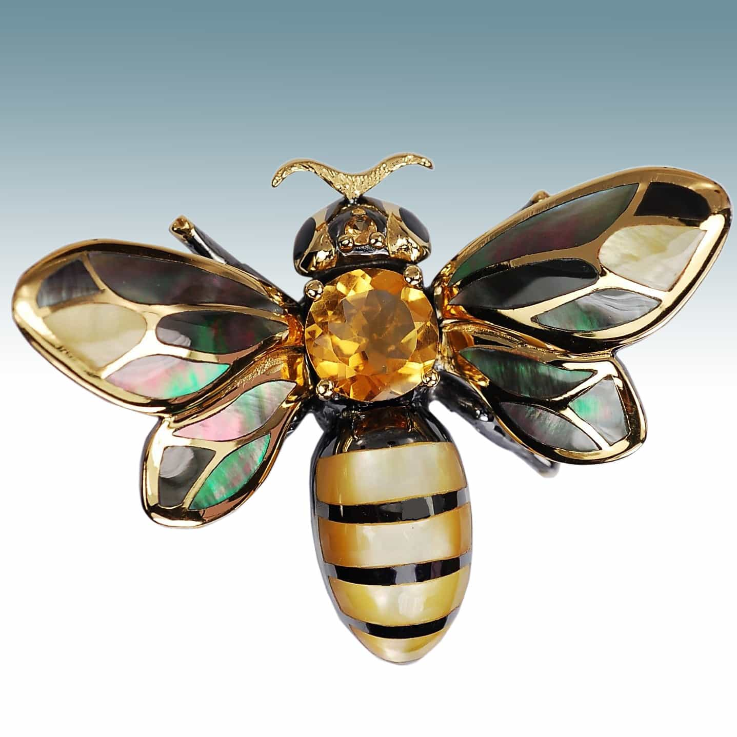 Fancy honey bee pendant kovel collection anazao galleries fancy honey bee pendant aloadofball Images